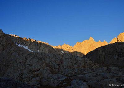 Morning trek to the summit