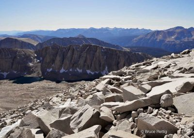 View from the top of Mount Whitney