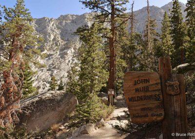 Entering John Muir Wilderness Area